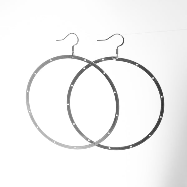 Slinky Hoop Earrings, with Holes