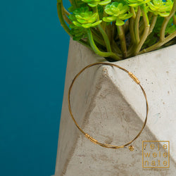 Gold-toned Guitar String Bangle Bracelet