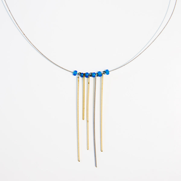 Strands of Five Guitar String Necklace