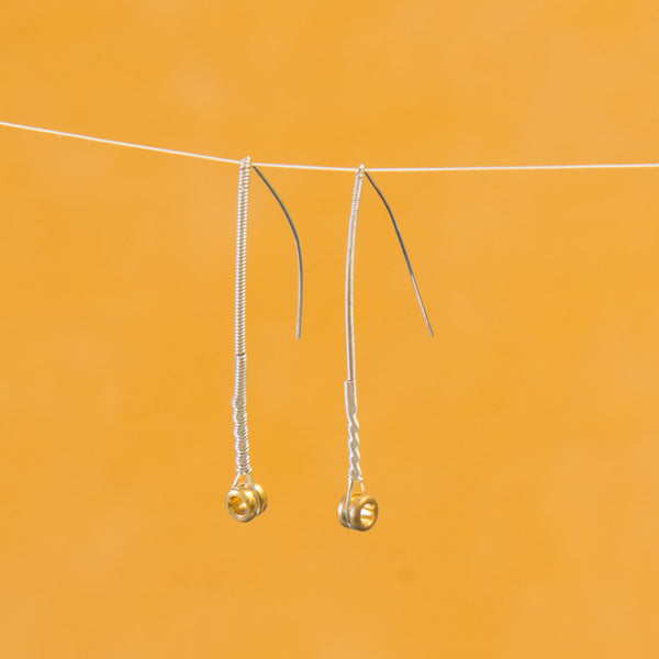 A-Frame Guitar String Ferrule Drop Earrings