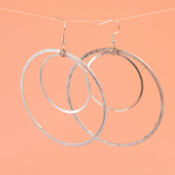 Double Ring Hoop Earrings