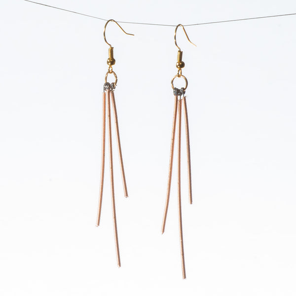 Tri-Dangle Guitar String Earrings