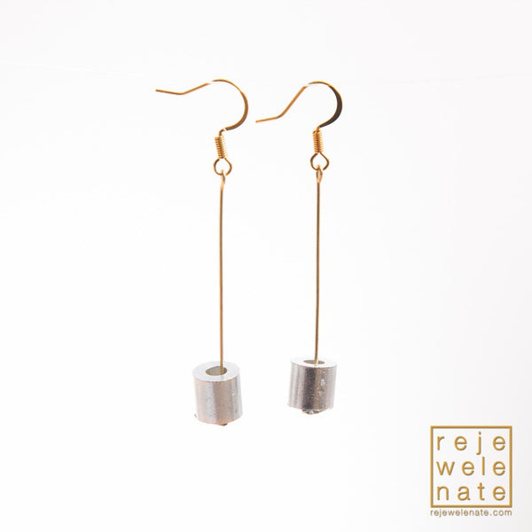 Aircraft Cable Stop Earrings