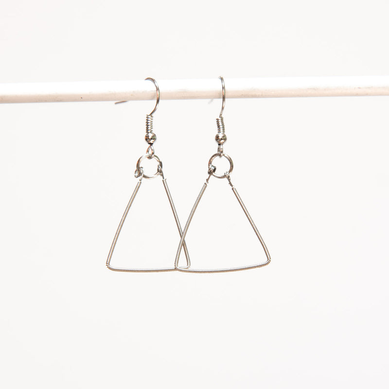 Triangle Guitar String Earrings