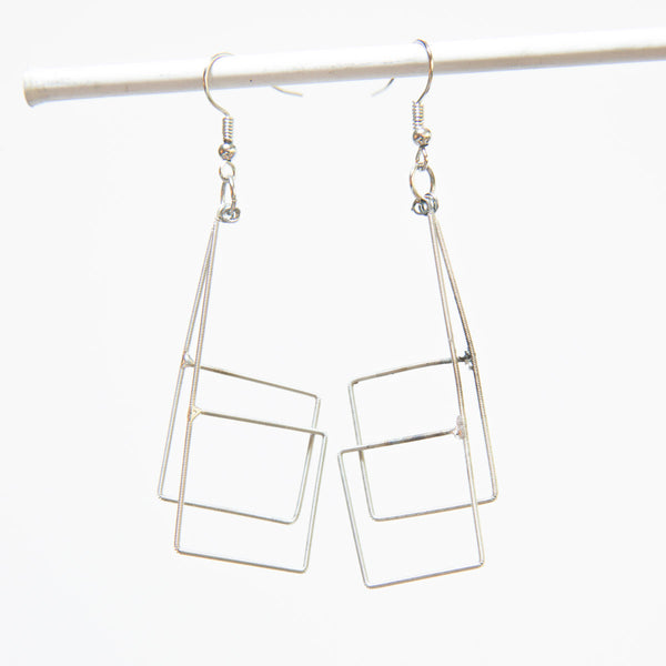 Window Pane Guitar String Earrings