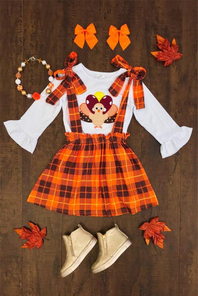Thanksgiving  Suspender Skirt