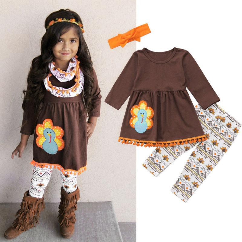Thanksgiving Fringe Outfit Set