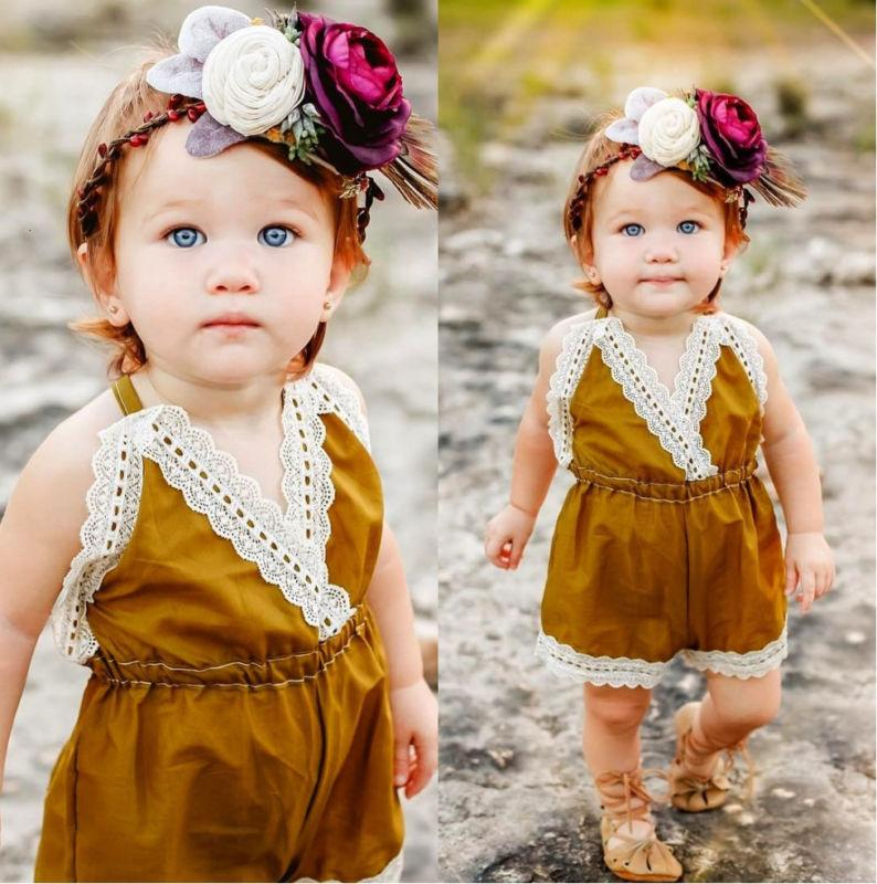 Mustard Lace Sunsuit