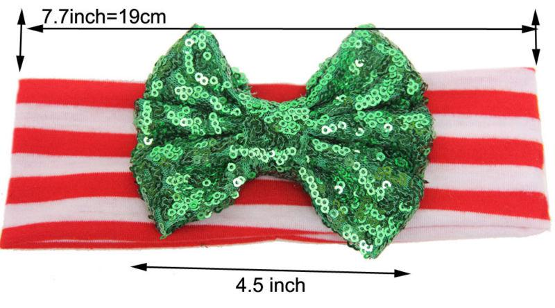 3PCS Sequined Bow Headband