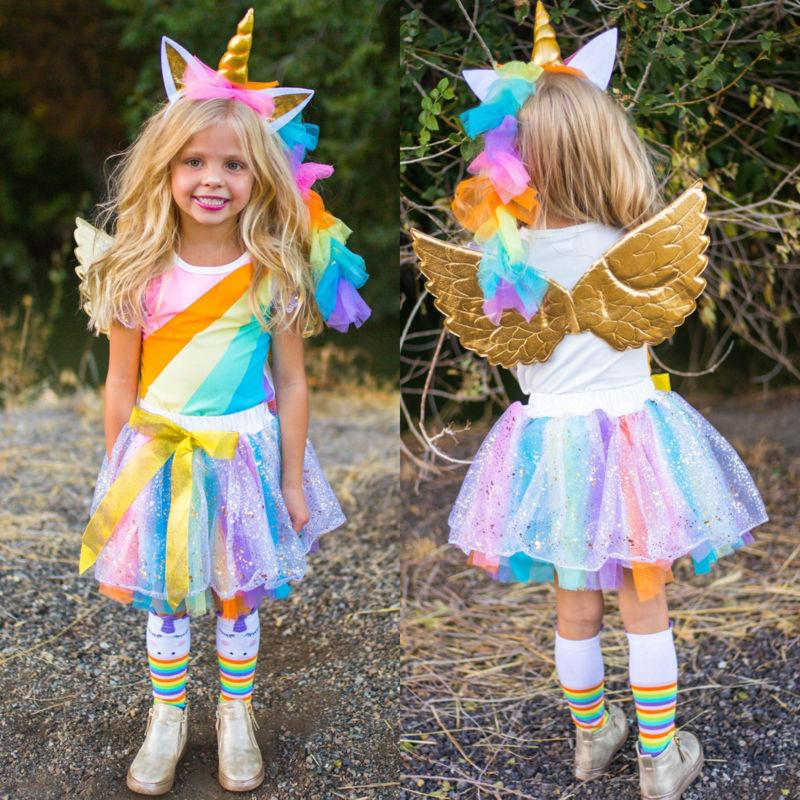 Rainbow Unicorn Top +Tutu Skirt Outfit