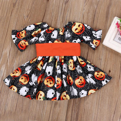 Pumpkin & Ghost Bow Dress