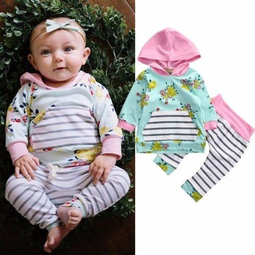 Abigail's Floral and Striped Set