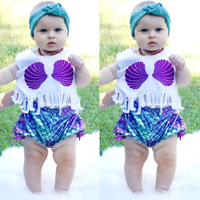 Ariel's sea shells top and bottoms