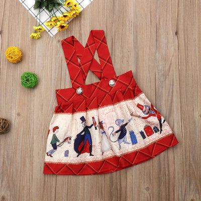 Christmas Plaids Cartoon Dress
