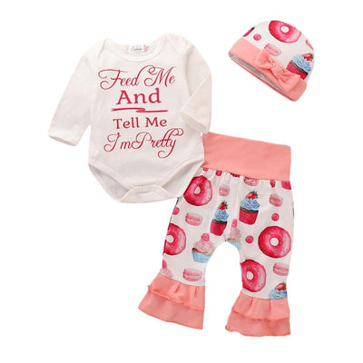 Feed Me and Tell me I'm Pretty 3pc Set