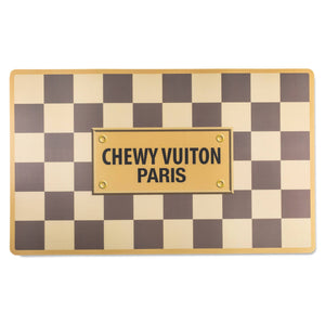 Haute Diggity Dog Checker Chewy Vuiton Placemat - Hero Pet Supplies
