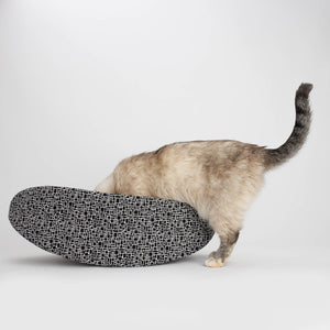 Black & White Bricks Reversible Cat Canoe® Bed-Hero Pet Supplies