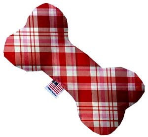 Mirage Pet Products Valentines Day Plaid Dog Toy - Hero Pet Supplies