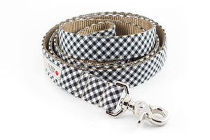 Silly Buddy Black Gingham Leash - Hero Pet Supplies