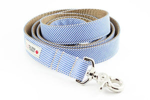 Silly Buddy Blue Pinstripe Leash - Hero Pet Supplies