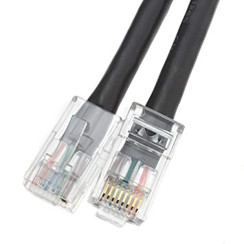 Black 1 Foot Cat6 Cat5e Cat5 Ethernet Patch Cable Internet Data Cable RJ45 8P8C