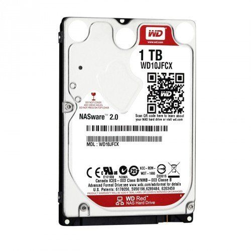 WD Red 1TB NAS Hard Disk Drive - 5400 RPM Class SATA 6Gb/s 16MB Cache 2.5 Inch - WD10JFCX