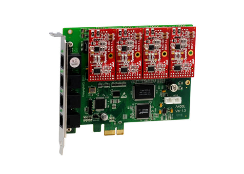 Openvox  TDM410 4 Port TDM PCI EXPRESS Card with 4 FXO