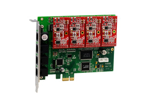 Openvox  TDM410 4 Port TDM PCI EXPRESS Card with 2 FXO