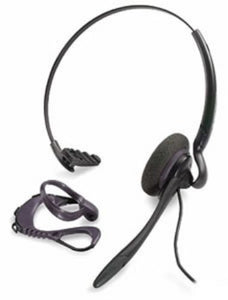 Plantronics H141N DuoSet Black Convertible Noise-Canceling QD Headset - Compatible with Yealink Phones