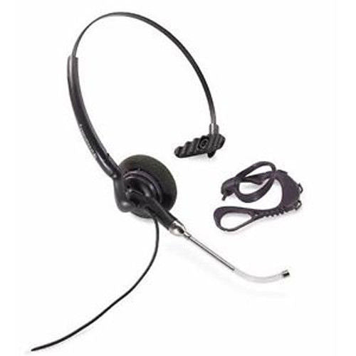 Plantronics H141 DuoSet Convertible 2-in-1 Voice Tube Headset - Compatible with Yealink Phones