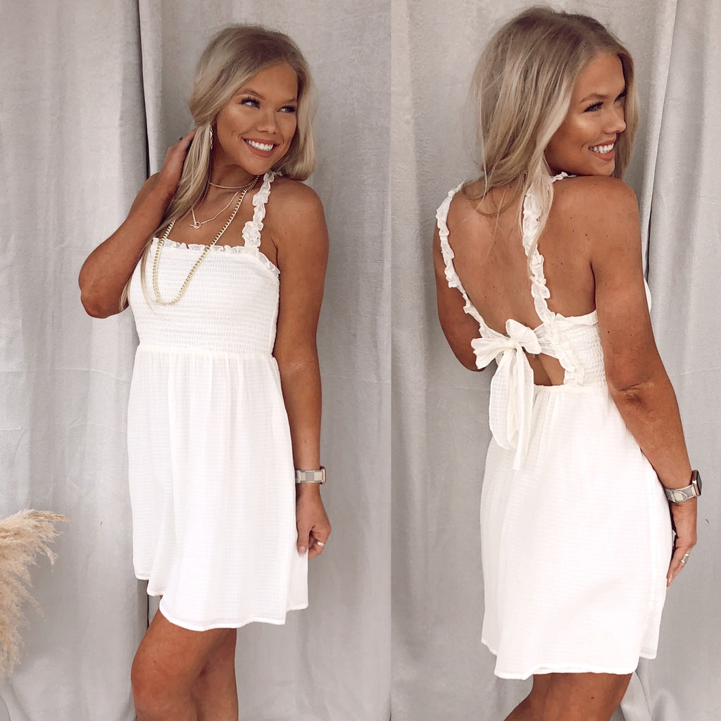 Sun Kissed Ivory Dress