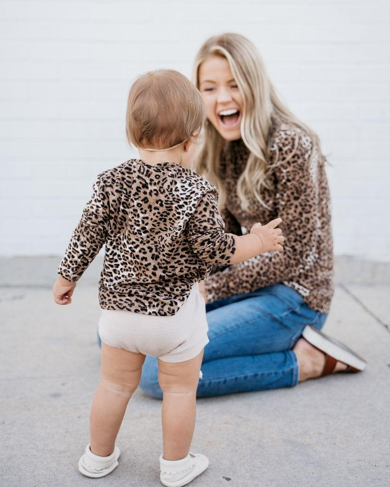 Camille Spotted Leopard Top