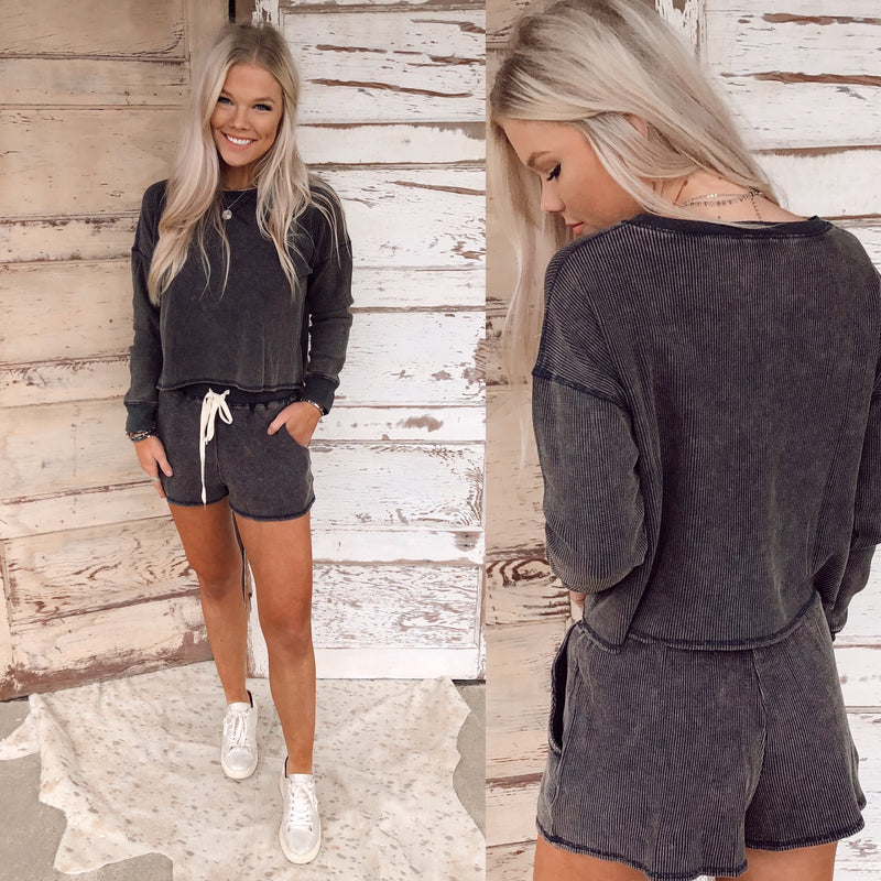 Midnight Grey Shorts