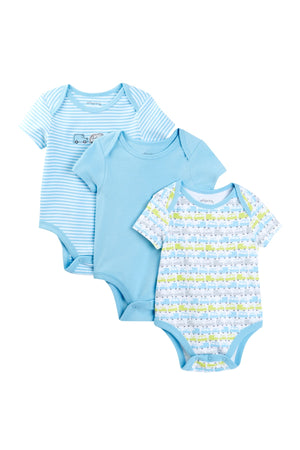 Truck Themed 3 Pack Onesie Set