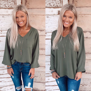 Ellie Everyday Basic Top - Olive