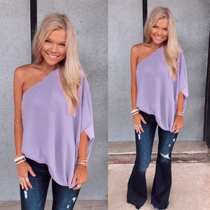 Liz One Shoulder Top - Lavender