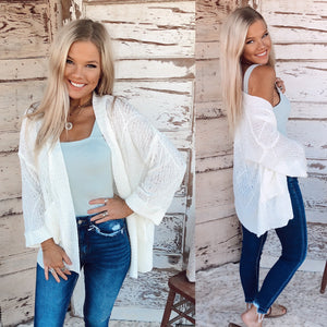 Ivory Sweetheart Cardigan
