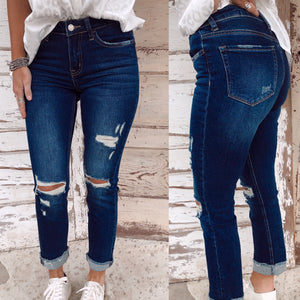 The Carlene Distressed Straight Leg Jeans