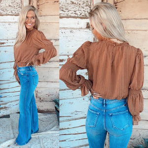 Bristol Camel Smocked Top