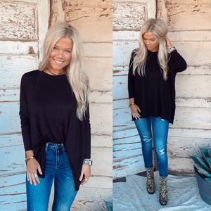 Kimber Black Long Sleeve Top