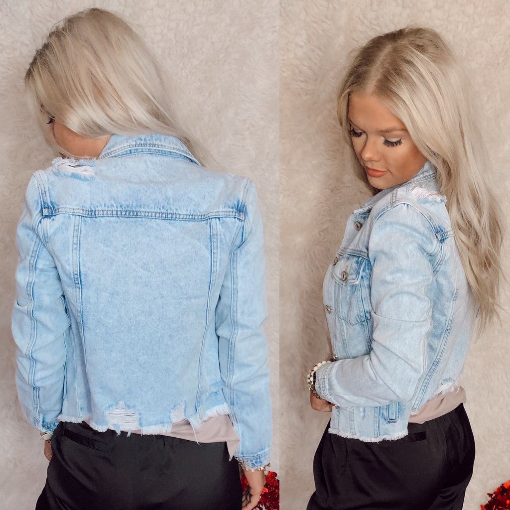 The Jax Denim Distressed Jacket