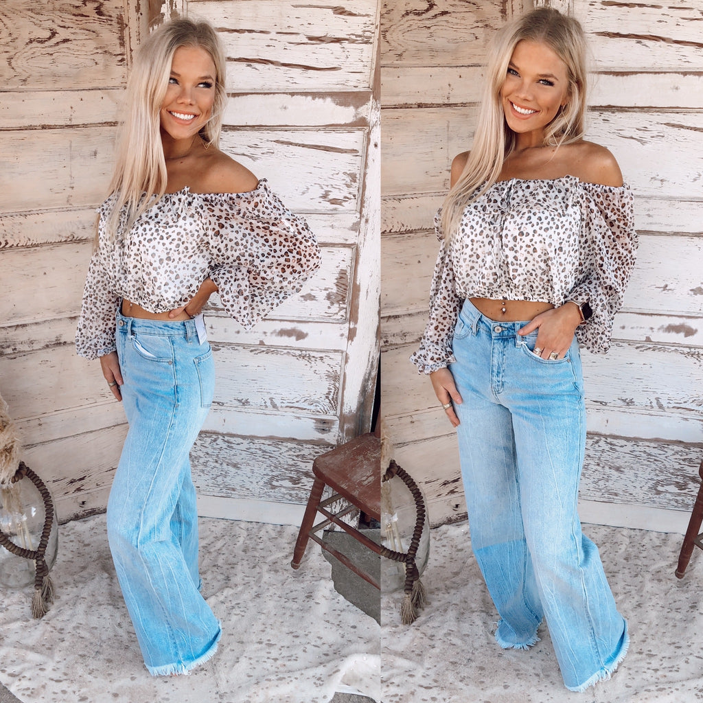 Lovely Leopard Cropped Top