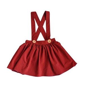 Daphne Pleated Suspender Skirt