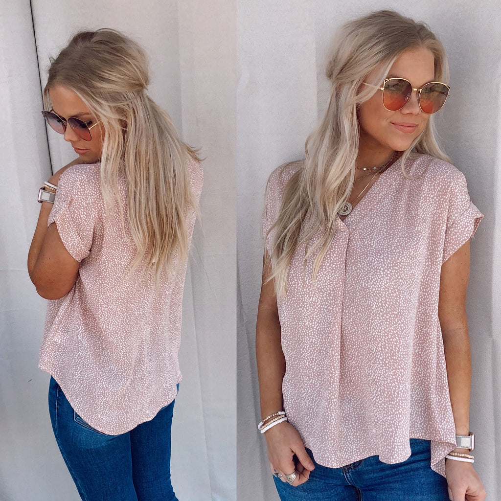 Pink Sullivan Speckled Blouse