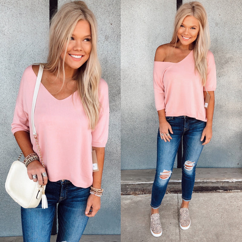 The Reese Top - Blush