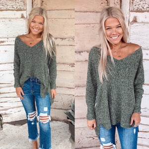 Heather Olive Sweater