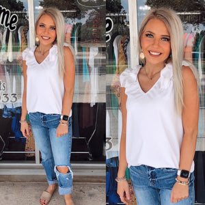Savannah Ruffle V-Neck Tank