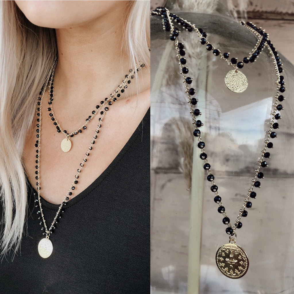 Easy Tiger Black Layer Necklace