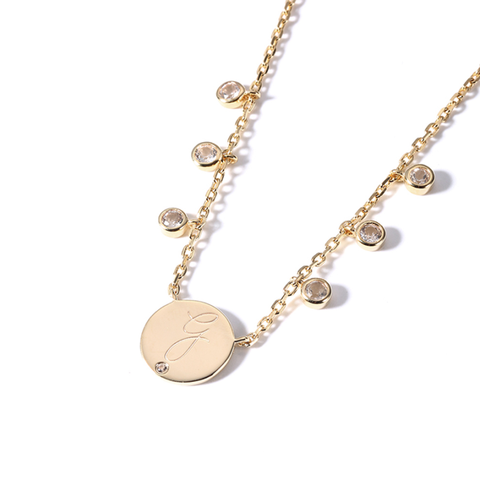 Natalie Wood Gold Initial Necklaces