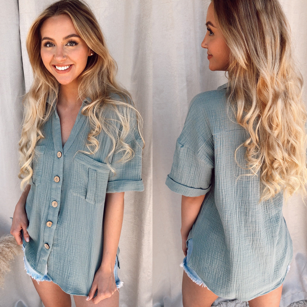 Hazel Button Down Top